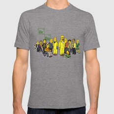 Breaking Bad cast X-LARGE Mens Fitted Tee Tri-Grey