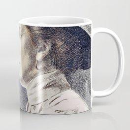 Portrait of a woman, reading a book - Maximilian Liebenwein Coffee Mug