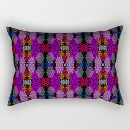 Snowflake III in Purples Rectangular Pillow