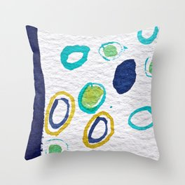 Waterdrops in Watercolors Throw Pillow