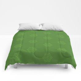 Snowflake I Green Comforters