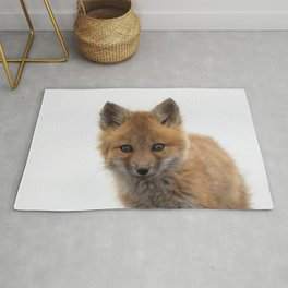 Watercolor Fox, Red Fox 42, Union Reservoir, Boulder County Rug