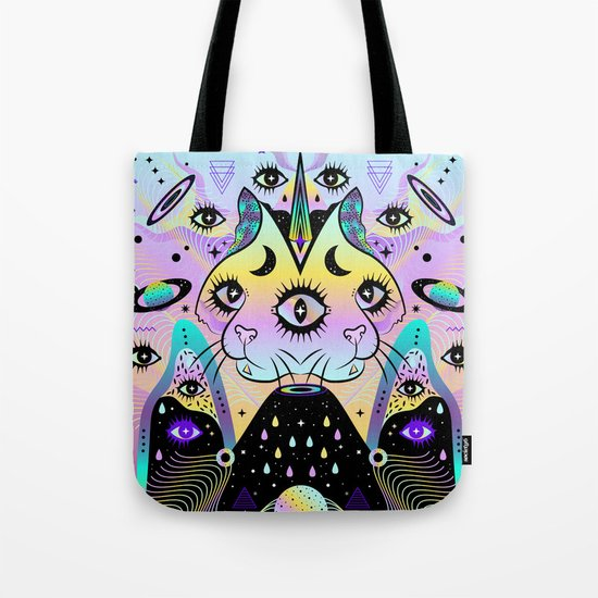 Power of Three Cats Tote Bag