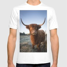 Moo Mens Fitted Tee White MEDIUM