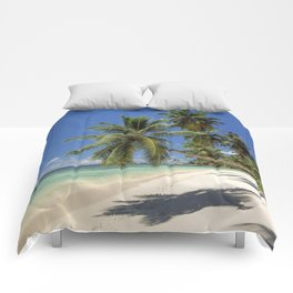 Palm beach, the Seychelles, La Digue island, Comforters