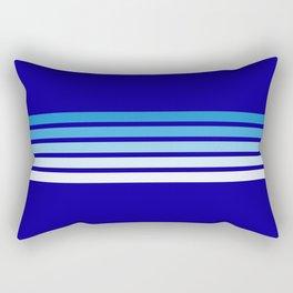 Retro Stripes on Blue Rectangular Pillow
