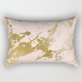 Champagne Blush Marble Rectangular Pillow