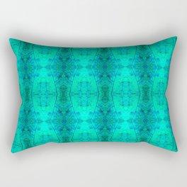 Teal State Pattern Rectangular Pillow
