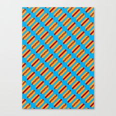 Pixel Hot Dogs Canvas Print