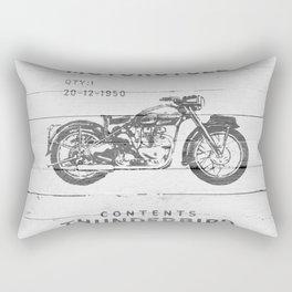 Vintage Triumph Thunderbird Motorcycle Rectangular Pillow