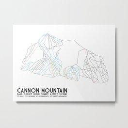 Cannon Mountain, NH - Minimalist Trail Art Metal Print