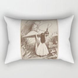 Alice in Wonderland With the Caterpillar Rectangular Pillow