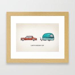 Let's Hook Up Framed Art Print