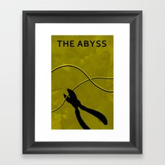 The Abyss Minimal Movie Poster (One Way Trip) Framed Art Print