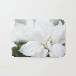 Snow White Flowers on a Dark Background #decor #society6 #buyart Bath Mat