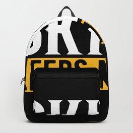 Skiing Lovers Gift Idea Design Motif Backpack