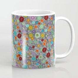 Playful Watercolor dots pattern - silver Coffee Mug