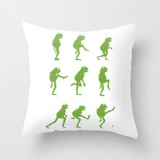 Ministry of Silly Muppet Walks Throw Pillow