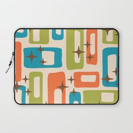 Retro Mid Century Modern Abstract Pattern 921 Orange Chartreuse Turquoise Laptop Sleeve
