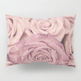 Some People Grumble - Pink Rose Pattern - Roses Pillow Sham
