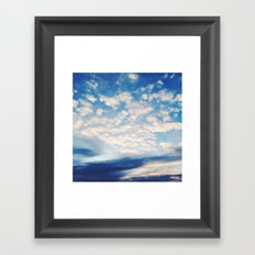 Sound of Clouds Framed Art Print