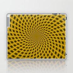 Spiral Rays in Gold Laptop & iPad Skin