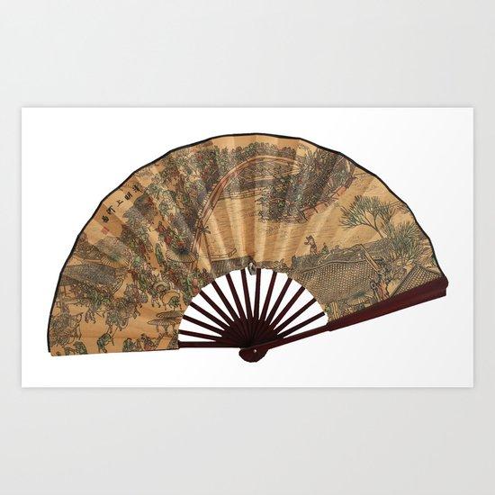 Japanese fan Art Print