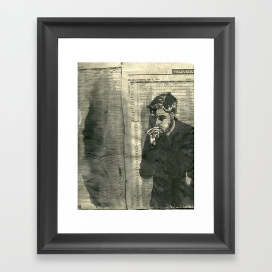 """""""Nothing Good is On to Keep Me From the Thought of You."""" Framed Art Print"""