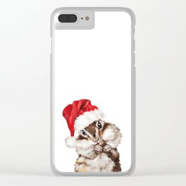 Christmas Squirrel Clear iPhone Case