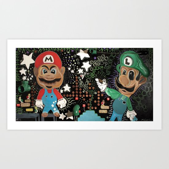 Fear and Loating in 3D MarioWorld Art Print