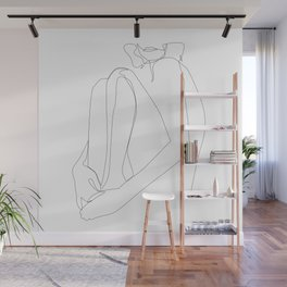 one line nude - sacrament Wall Mural