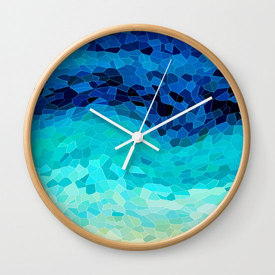 INVITE TO BLUE Wall Clock