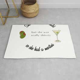 She believed She Could So She Had a Martini Rug
