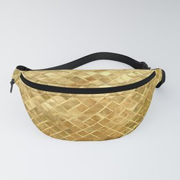 Golden Checkerboard Fanny Pack