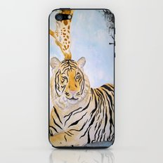Giraffe Kissing Tiger iPhone & iPod Skin