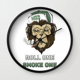 Weed Lovers - Roll One Smoke One Wall Clock