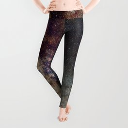 The star Antares, Scorpius and Sagitariuss over the hight mountains. The milky way. Leggings