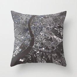 Budapest - city map Throw Pillow
