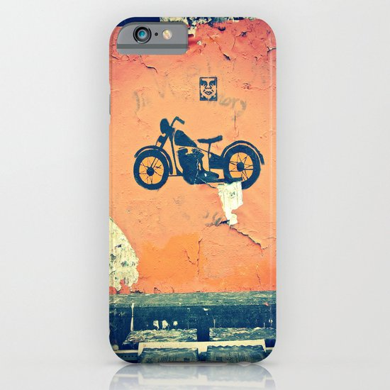 Motorcycle street art iPhone & iPod Case