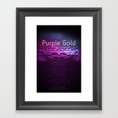 Purple Gold Framed Art Print