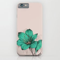 Green Poppy Slim Case iPhone 6s