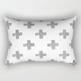 Swiss Crosses in Concrete Print Rectangular Pillow