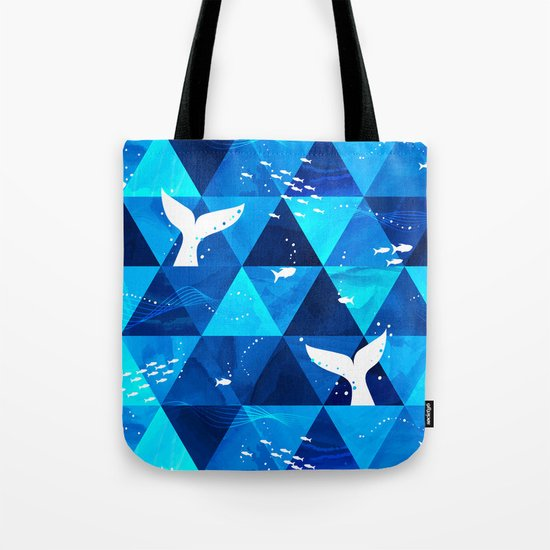 Blue Whale Singing Tote Bag