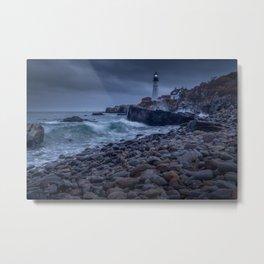 Storm Lighthouse 2 Metal Print