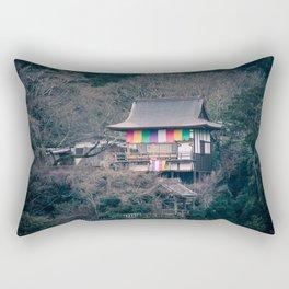 Temple on the mountainside Rectangular Pillow