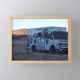 Colorado Landscape With a Abandon Food Truck Framed Mini Art Print