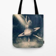 When Saturn Starts Dancing Tote Bag