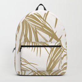 Gold Palm Leaves Dream #1 #tropical #decor #art #society6 Backpack