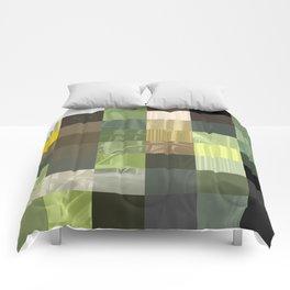 Cactus Garden Abstract Rectangles 3 Comforters
