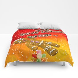 Gingerbread Man's Buttons Comforters